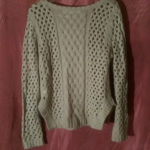 Ya Los Angeles Sweaters - EUC YA los Angeles creme sweater, chain detail sm